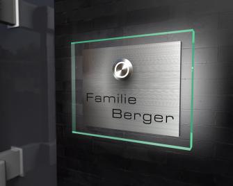 Design Edelstahlklingel mit Ambilight (Hintergrundbeleuchtung)