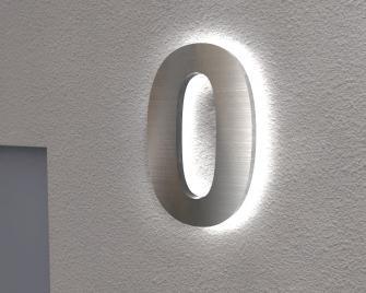 Hausnummer Beleuchtet edelstahl hausnummer hausnummern beleuchtet