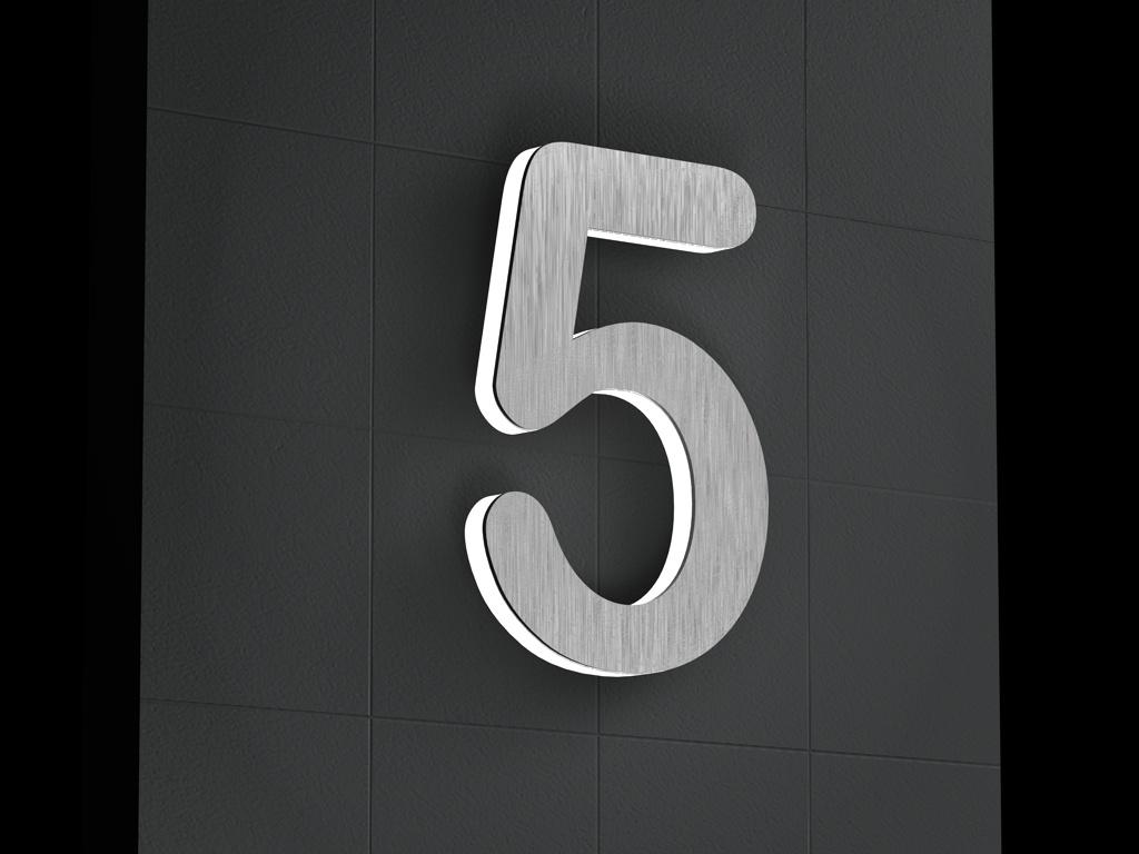 edelstahl hausnummer shop fp95 hitoiro. Black Bedroom Furniture Sets. Home Design Ideas
