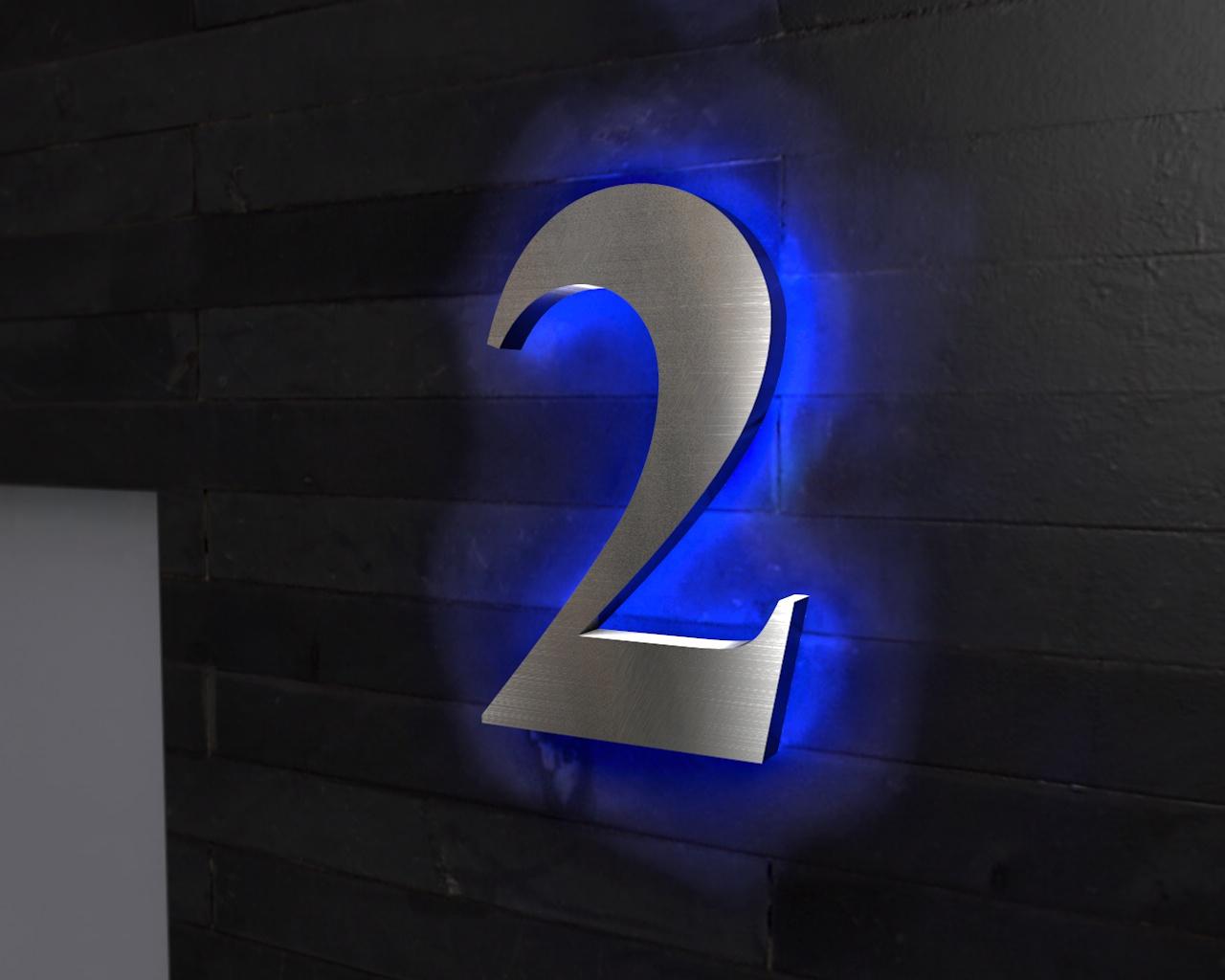 edelstahl hausnummer beleuchtete led edelstahl hausnummer. Black Bedroom Furniture Sets. Home Design Ideas
