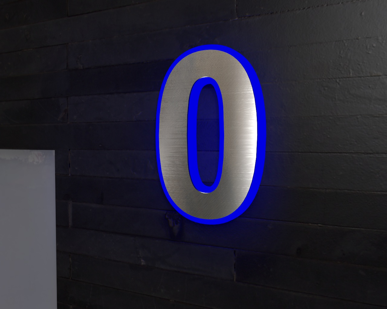 edelstahl hausnummer beleuchtete led edelstahl hausnummer 0. Black Bedroom Furniture Sets. Home Design Ideas
